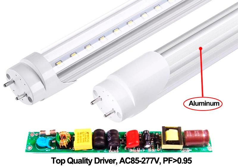 led replacement for t12 fluorescent tubes