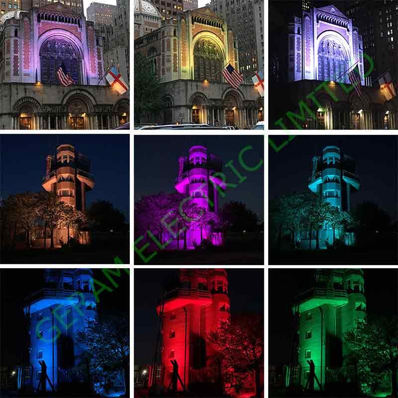 color changing led flood light 100w 200w 300w