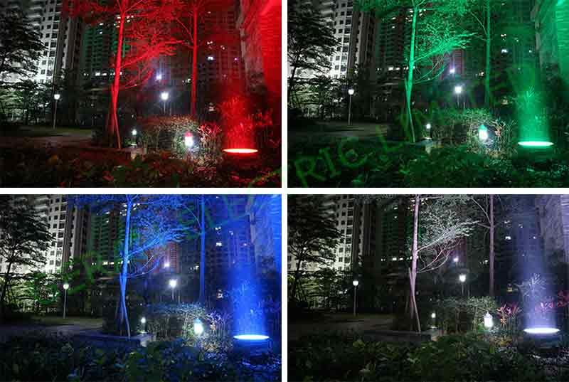 dmx rgb flood light for lighting up trees