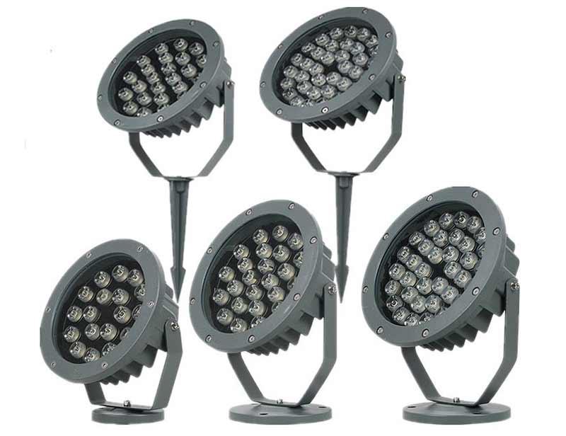 dmx rgb led spotlight 12w 18w 24w 36w