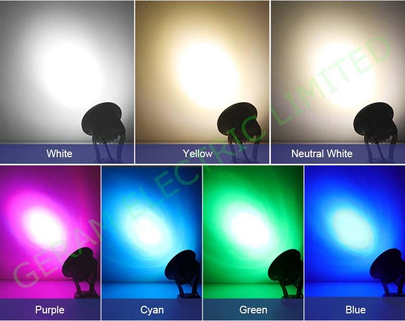 dmx512 rgb led spotlight 12 18 24 36 watt