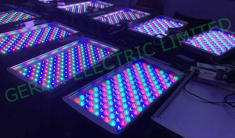 multi colored led flood light 100w 200w 300w