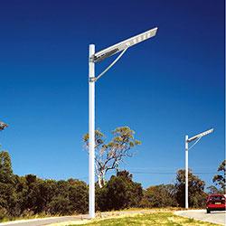 100 watt integrated solar powered led street light