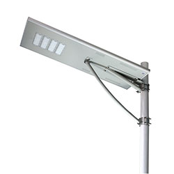 120 watt all in one integrated solar powered led street light