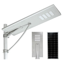120w integrated all in one solar powered led street light