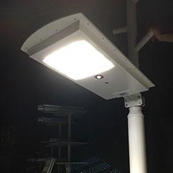 25 watt integrated solar powered led street light