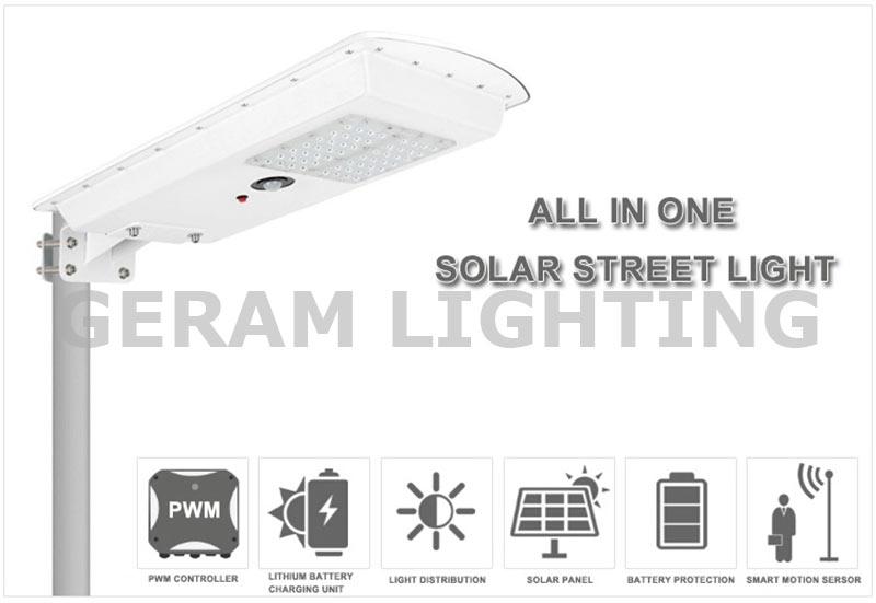 25w 30w all in one solar led street light