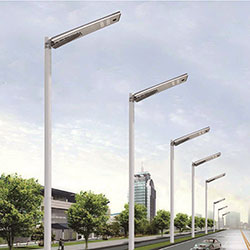 40 watt integrated solar powered led street light