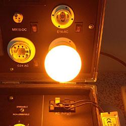 amber color led light bulb