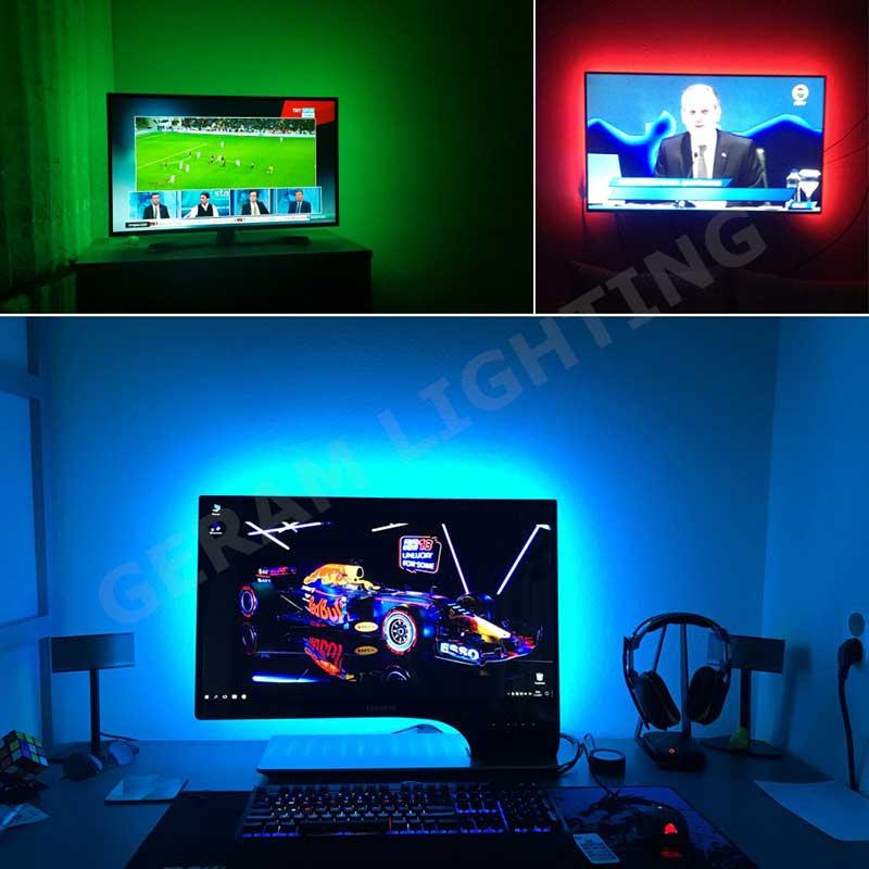 5v usb led strip light for background