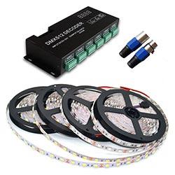 DMX Controlled Programmable Full Spectrum LED Strip Light