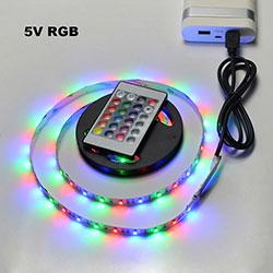 Indoor Decoration Multi Coloured RGB 5V USB LED Strip Light