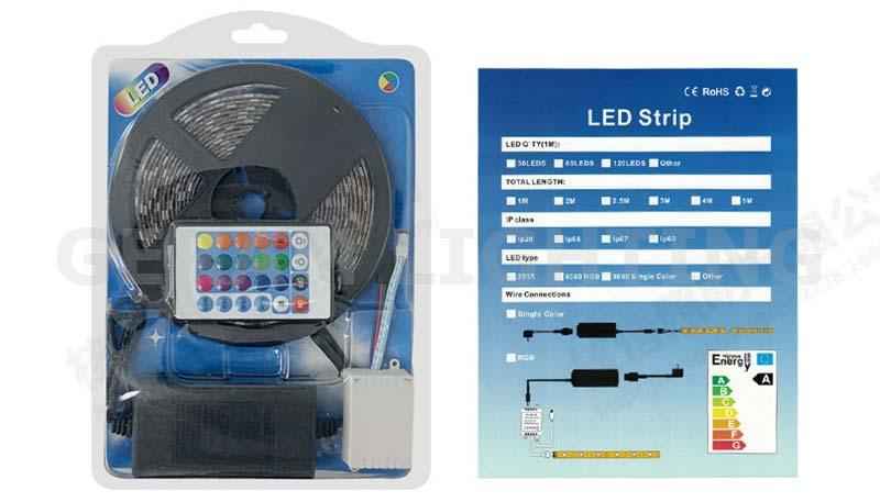remote controlled rgb led strip light