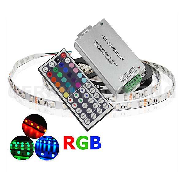 RGB LED Strip Light Cordless 44 Keys RF Remote Controller