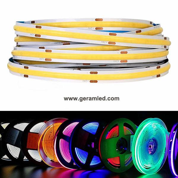 rgb rgbw cob led strip light