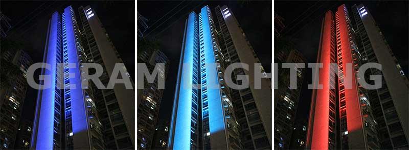 dmx rgb flood light for high building