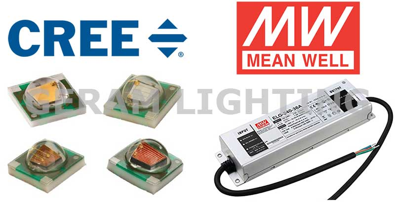 cree rgb led chips and mean well driver