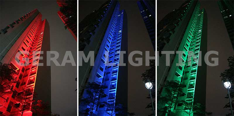 rgb led flood light for high building