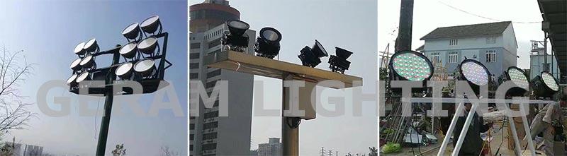 high power dmx rgb rgbw led flood light