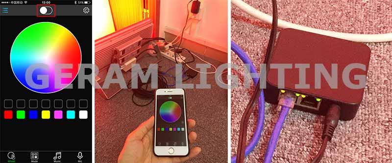 mobile phone app controlled rgb rgb dmx flood light