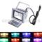 remote control rgb led flood light 10w 20w 30w 50w