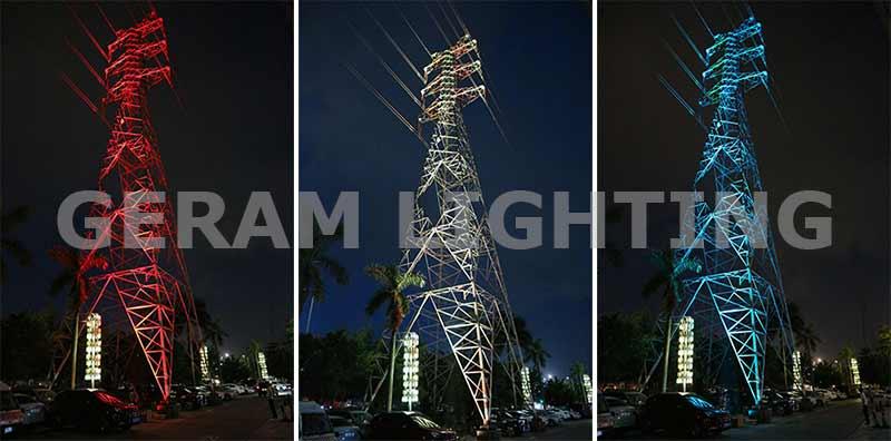dmx rgb led flood light for tower
