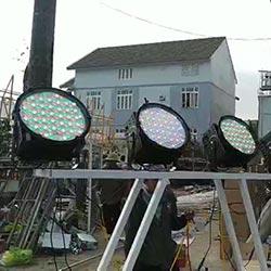 installation of dmx rgb led flood light