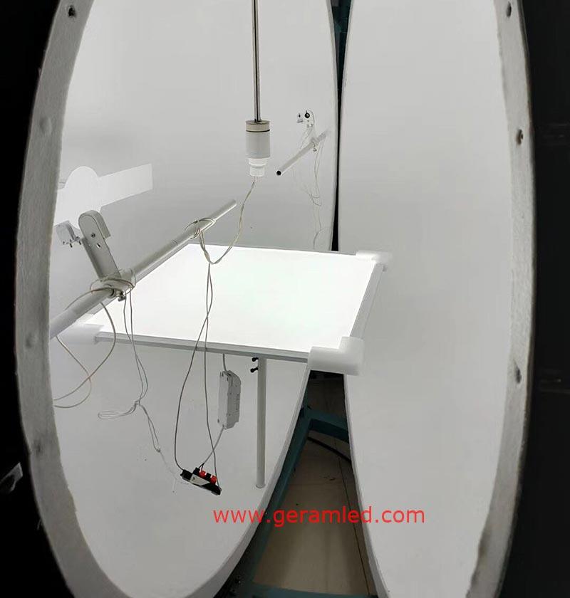 integrating sphere test for led panel light