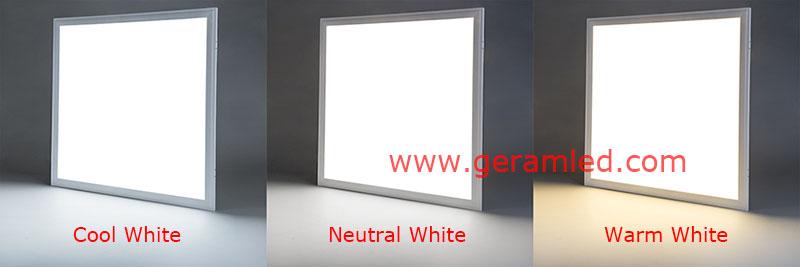 warm white neutral white cool white led panel light